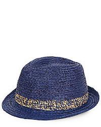 Navy Straw Hat
