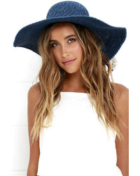 Billabong Saltwater Sunset Blue Floppy Straw Hat