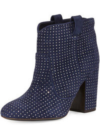 Pete studded suede ankle boot blueruthenium medium 108443