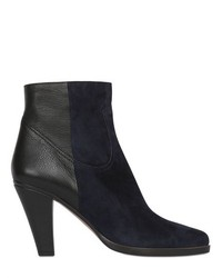 Chloé 90mm Calf Leather Suede Ankle Boots