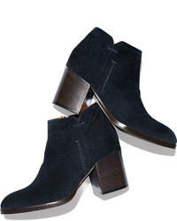 08317284d87f2 ... Alberto Fermani Anzio Low Cut Suede Ankle Boot Blue Notte