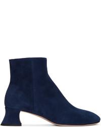 Miu Miu Blue Suede Ankle Boots