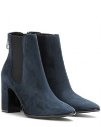 Balenciaga Charlotte Suede Ankle Boots