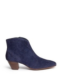 Ash Hurrican Suede Cowboy Ankle Boots