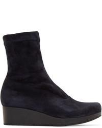 Navy suede nerdall sock boots medium 672771