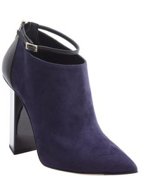 Jimmy Choo Navy Suede Vanish Ankle Strap Booties