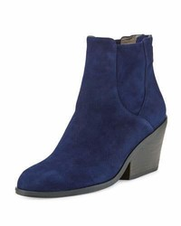 Eileen Fisher Peer Suede Ankle Boot Dark Night