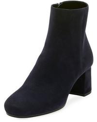 Prada Suede 55mm Block Heel Boot