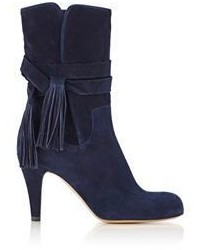 Chloé Suede Ankle Boots Blue