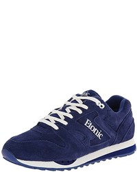 Navy Suede Athletic Shoes