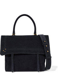Jerome Dreyfuss Jrme Dreyfuss Jeremie Suede Shoulder Bag Navy