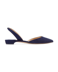 Paul Andrew Rhea Suede Point Toe Flats