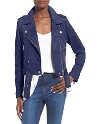 Blanknyc morning suede moto jacket medium 518570