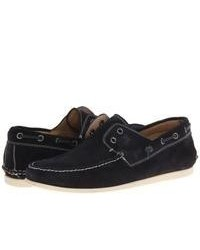 Navy Suede Boat Shoes