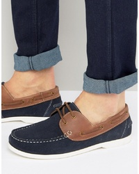 Silver Street Boat Shoes Navy