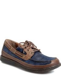 Brn harwich boat shoe medium 800919