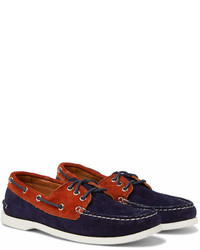 Quoddy Downeast Two Tone Suede Boat Shoes