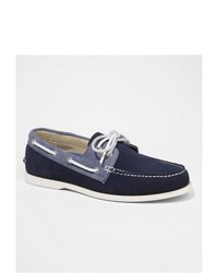 Express Suede And Chambray Boat Shoe Blue 8