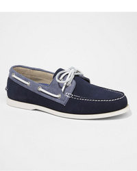 Express Suede And Chambray Boat Shoe
