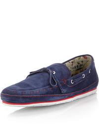 Vince Camuto Mariro Suede Boat Shoe Washed Navy