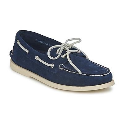 c1a9a975ec4 Ao Two Eye Suede Navy Boat Shoes