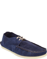Doucal's Suede Two Eye Boat Shoes