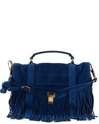 Navy Suede Crossbody Bag
