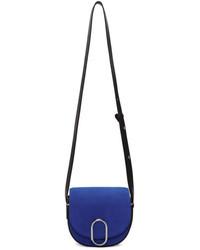 3.1 Phillip Lim Blue Suede Mini Alix Saddle Bag