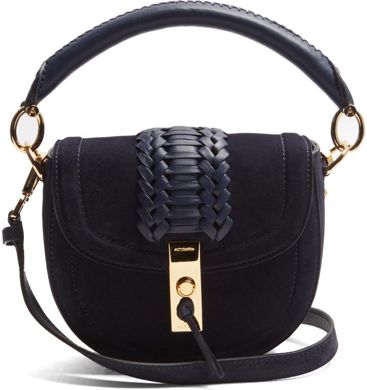 Altuzarra Ghianda Mini Suede Top Handle Cross Body Bag