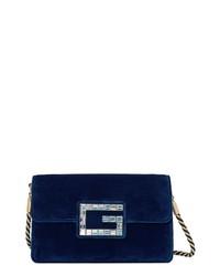 Gucci Small Broadway Velvet Crossbody Bag