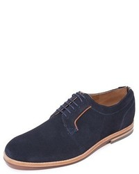 Hudson London Albany Suede Plain Toe Derby Shoes