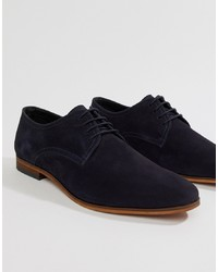 Pier One Lace Up Shoes In Navy Nubuck