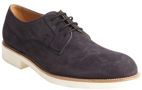 Tod's Midnight Blue Suede White Rubber