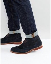 33c3e0fa278b Men s Navy Suede Desert Boots from Asos