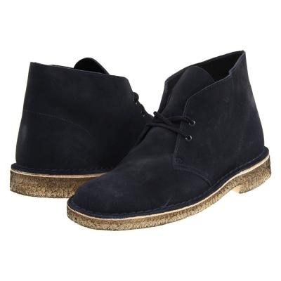 Desert Boot Lace Up Boots Navy Suede