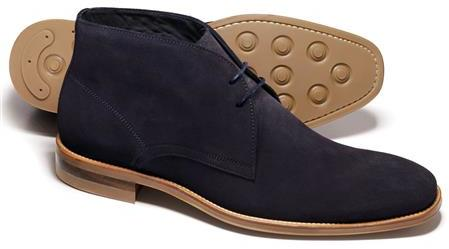Charles Tyrwhitt Navy Pembridge Suede Chukka Boots | Where to buy ...