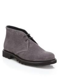Men s Navy Suede Boots by Giorgio Armani   Men s Fashion 03e3d319629