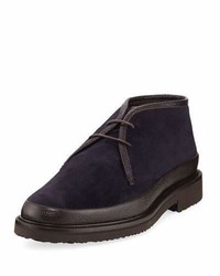 Ermenegildo Zegna Trivero Suede Leather Chukka Boot