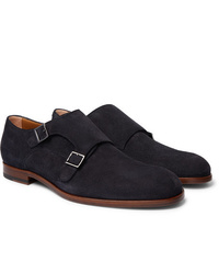 Hugo Boss Brighton Suede Monk Strap Shoes