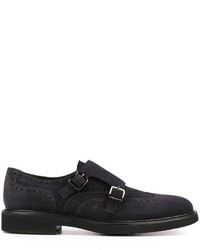 Canali Double Buckle Monk Shoes