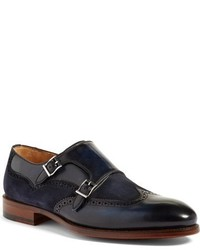 Magnanni Leve Double Monk Strap Shoe