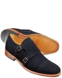 Charles Tyrwhitt Navy Francis Double Buckle Monk Shoes