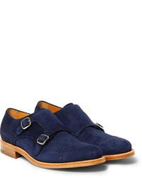 Okeeffe Bristol Suede Monk Strap Shoes