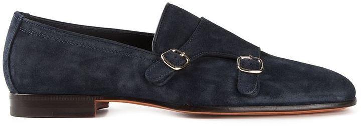 Brown Monk Strap shoes Santoni MkFdVU53oA