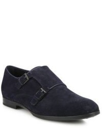 Tod's Suede Double Monk Loafers
