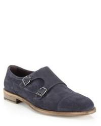 Ermenegildo Zegna Suede Double Monk Strap Shoes