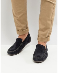 Base London Henton Suede Drivers In Navy