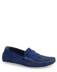 Canali Perforated Suede Driving Shoe