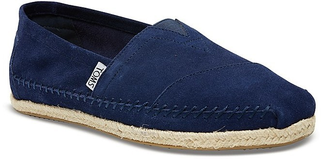 fe5176292b7 ... Espadrilles Toms Classic Suede Rope Sole Slip Ons ...
