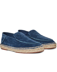Loro Piana Seaside Walk Collapsible Heel Suede Espadrilles